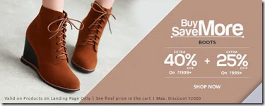 Snapdeal: Buy Ladies Boots at at min. 40% off