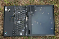 IBM Thinkpad somewhat the worse for wear