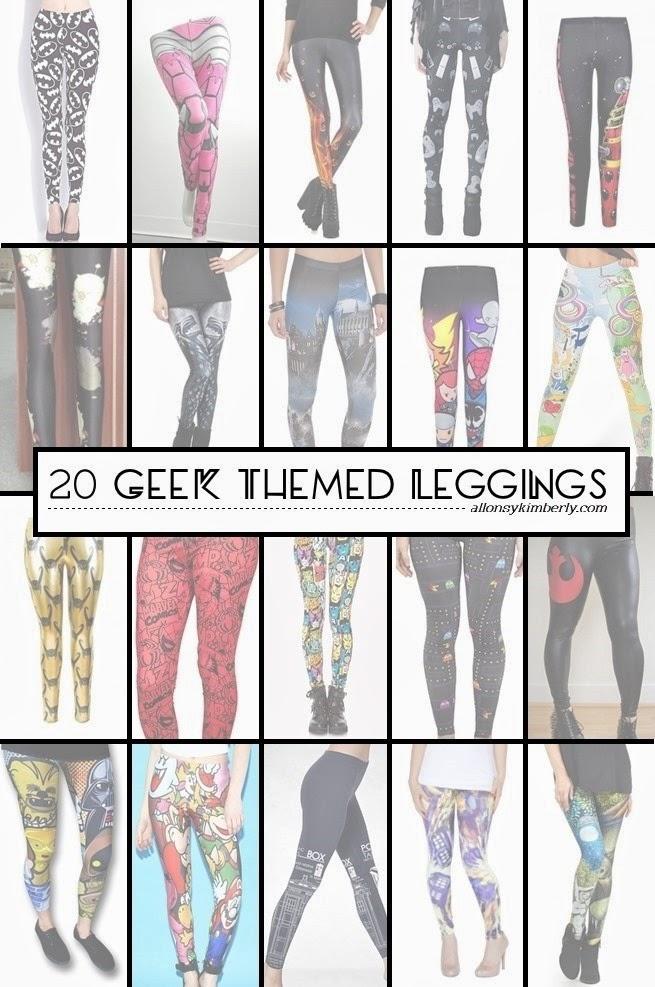 20 Geek Themed Leggings | allonsykimberly.com