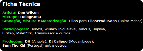 Don Wilson - Mixtape 'Holograma' [Ficha Técnica]