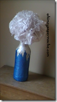 tissue flower in vase