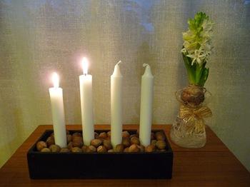 024 adventsljusstake och hyacint