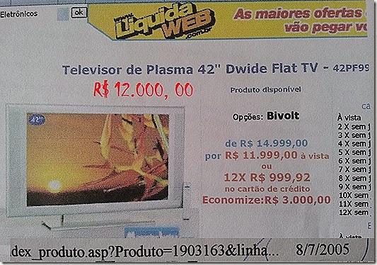 TV Plasma 12 mil