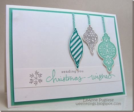 LeAnne Pugliese WeeInklings Merry Monday 97 Endless Wishes Tree Trimmings Stampin Up Christmas