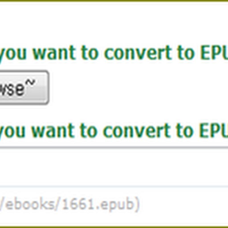 เวบไซต์บริการแปลงไฟล์เป็น Ebook แบบ ePUB