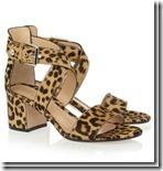 Gianvinto Rossi Leopard Print Sandal