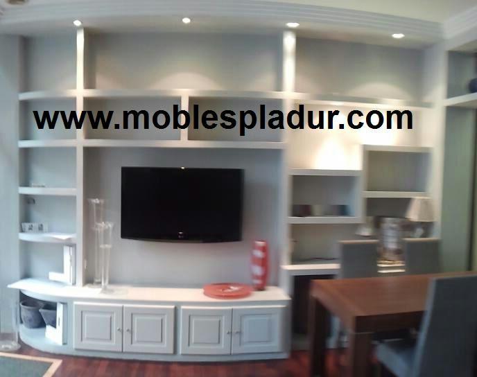 Pladur barcelona la televisi n y el mueble de pladur - Muebles pladur para salon ...