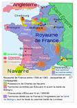 Mapa de fRANÇA 1356-1363