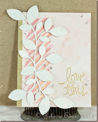 rose gold love this card