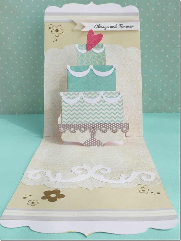 cafe creativo - big shot sizzix - card wedding pop up (1)