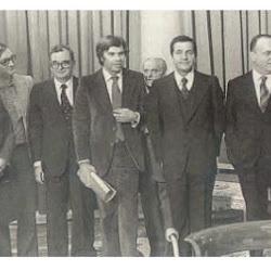 Fotos de los participantes en los Pactos de la Moncloa