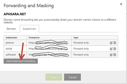 การใช้ subdomain name ใน blogger