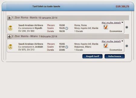 Oferta Saudi Airlines: Roma - Manila