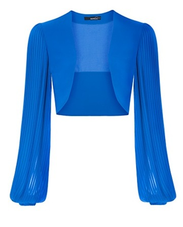 Pleated Sleeves Bolero3