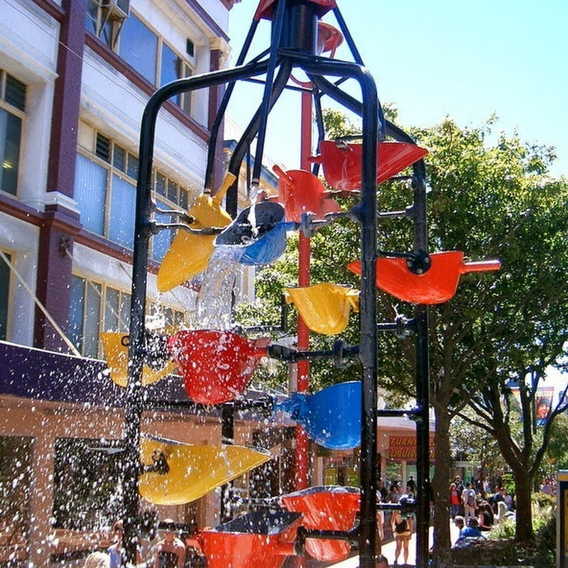 The Bucket Fountain in Wellington, New Zealand