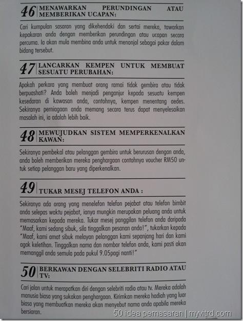 50 idea pemasaran 112
