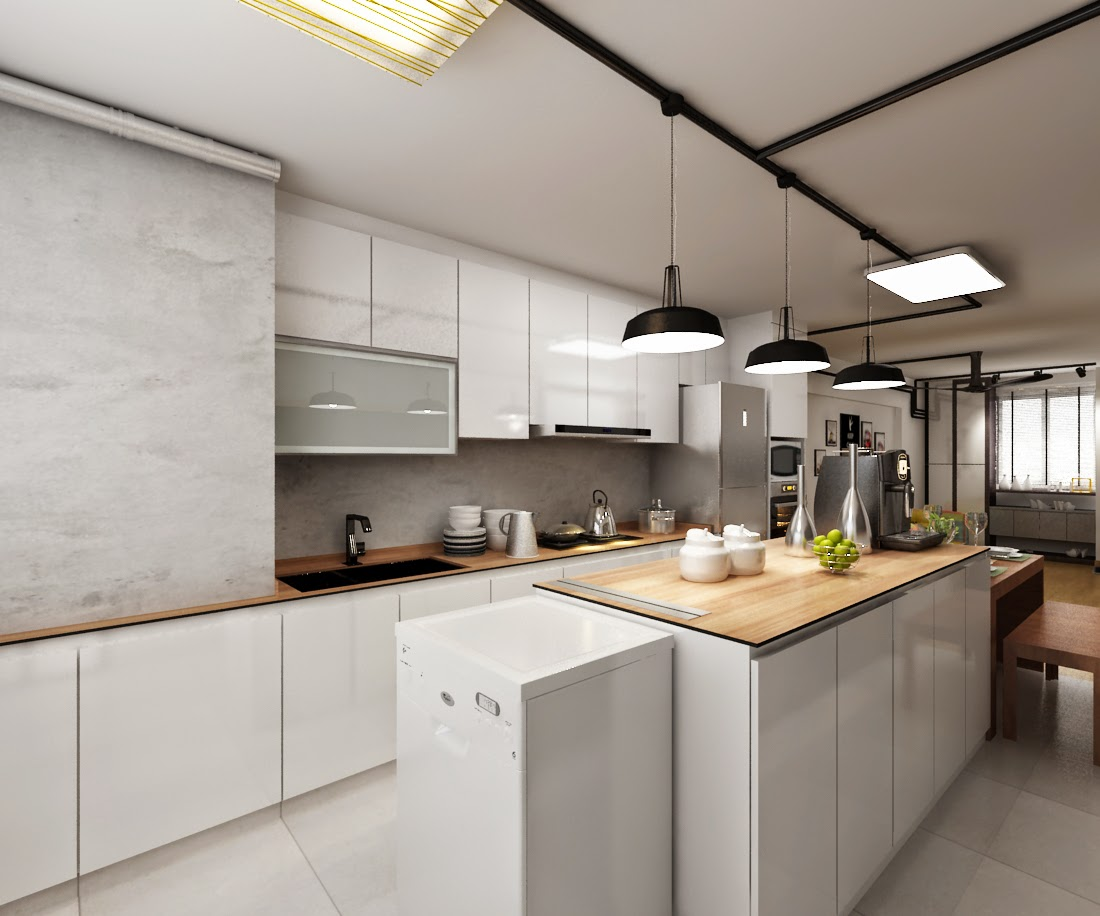 Interior Design Guide Hdb 3 Room Interior Design Industrial Minimalist Design Concept