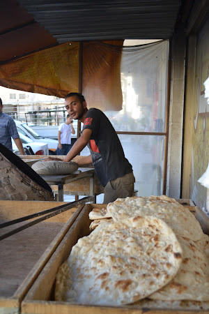 Street food in Jordan - Arabic bread