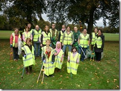 Litter pick in Palmer Park