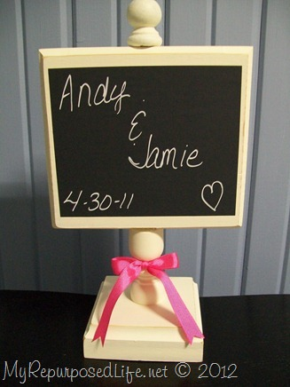 chalkboard display stand