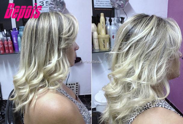 luzes platinadas- cabelo platinado