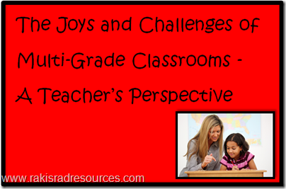 The joys and challenges of multi-grade classrooms - a teacher's perspective