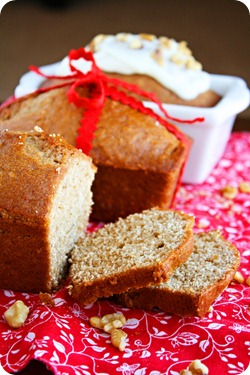 Mini Gingerbread Loaves with Cream Cheese Glaze