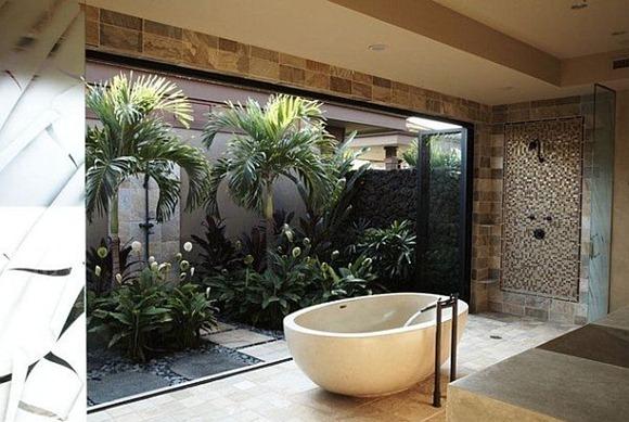 Diseño de baño Tropical