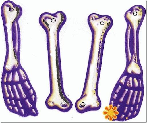 Día de los muertos, esqueleto articulado para armar - pintar y jugar