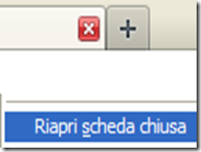 Riaprire le schede chiuse per sbaglio su i browser internet Firefox, Chrome, IE, Opera, Safari