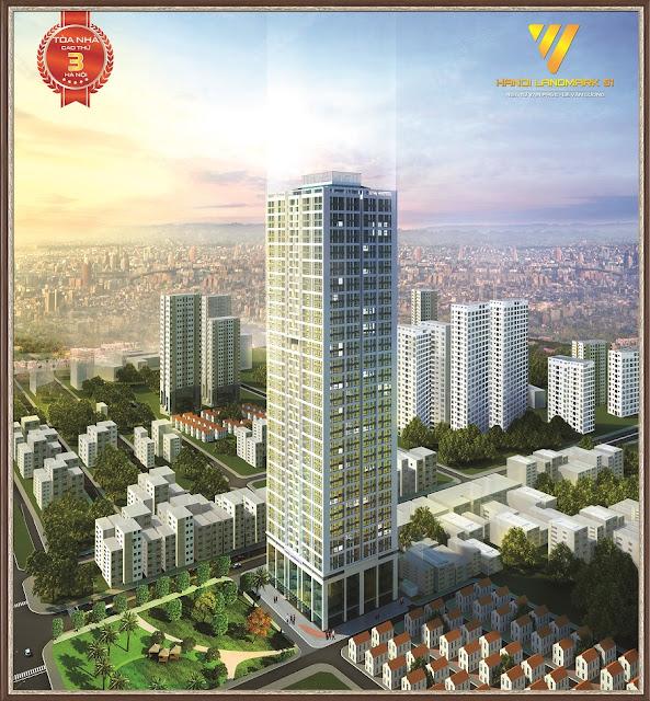 Phối Cảnh Tổng Thể Chung Cư hanoi landmark 51