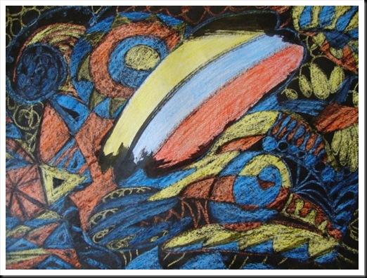 sgraffito abstract