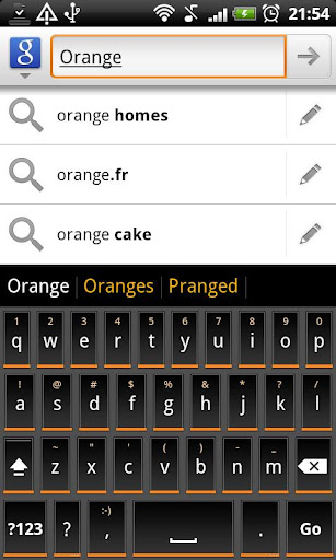 Orange Slate HD Keyboard Theme