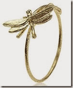 Alex Monroe Gold Dragonfly Ring