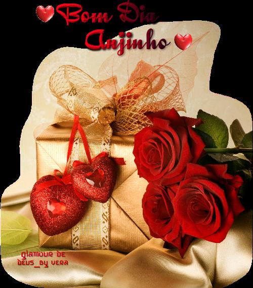 Mensagem de bom dia com rosas vermelhas