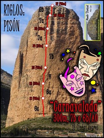 Riglos - Pison - Carnavalada 300m 7b (6a A0 Oblig) (paredesdelmundo.b)