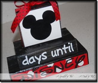 Disney Countdown Calendar {A Sprinkle of This . . . . A Dash of That}