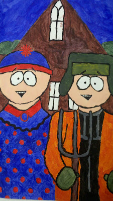 American Gothic Parody 2nd Semester