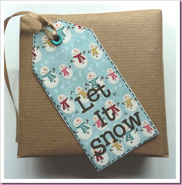 Let It Snow Canvas tag
