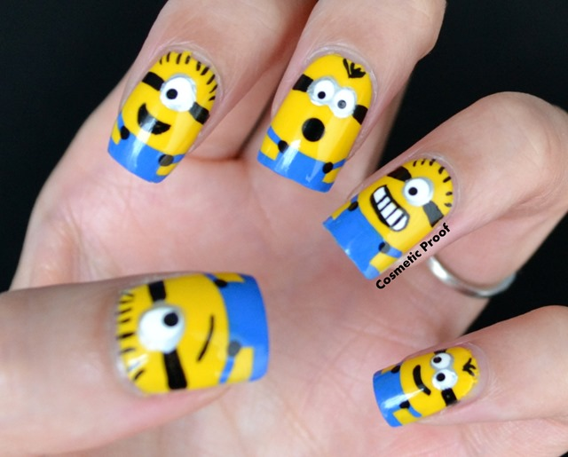 For my yellow base, I used Barielle-Lemondrops and then acrylic paint and a  small nail art brush for the detail. I love these little guys and cannot  stop ... - The Minions Are Here! Cosmetic Proof Vancouver Beauty, Nail Art