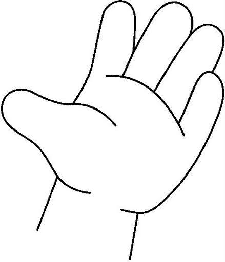 Dibujos infantiles para colorear de manos - Imagui