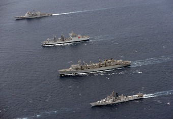 Rajput Class Destroyer INS Ranvir, Deepak Class Fleet Tanker INS Shakti [Indian Navy]