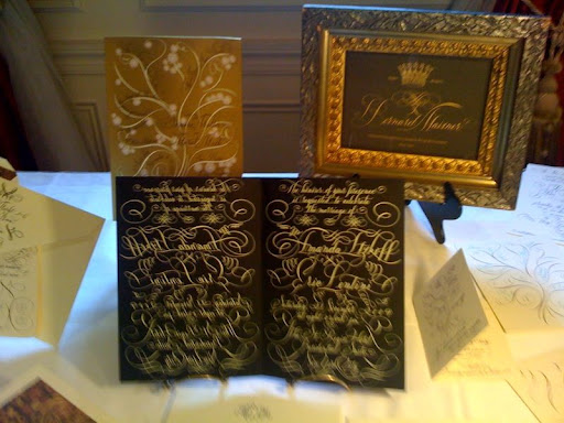 Beautiful calligraphy from Bernard Maisner.