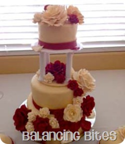 Red and Ivory Cascading Rose Wedding Cake 4 copy