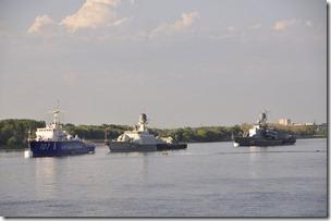 038-Astrakan, navires de surveillance russes sur la Volga