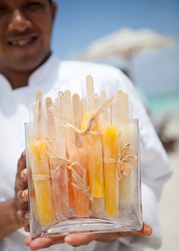 Tequila-infused ice pops were passed around.