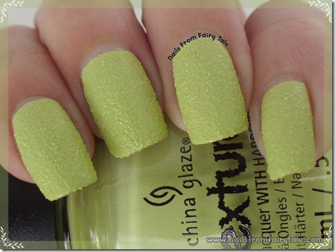 china glaze texture in the rough