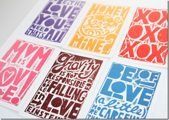 ValentinePostcards.rawartletterpress