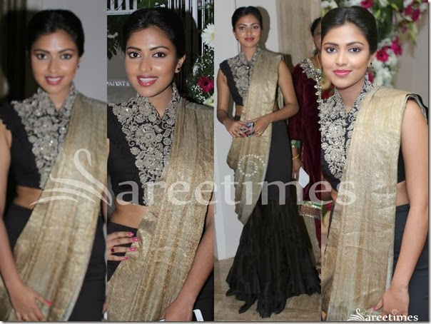 Amala_Paul_Black_Lehenga