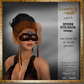 DANIELLE Spider Mask Orange'